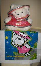 2001 Dayton Hudson Astronaut Plush Teddy Mrs. Santa Bear - with tag and bag