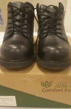 """Mt Emey Mens DIABETIC Boots Added Depth Adventure size 12 Black 6"""" NIB NWT"""
