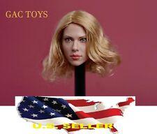 1/6 Scarlett Johansson Head 7.0 Black widow short blonde hair  ❶USA IN STOCK❶
