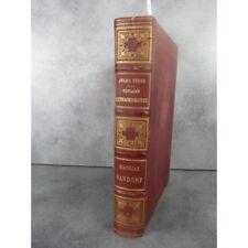 Hetzel Jules Verne  Mathias Sandorf 1885 Catalogue CR Reliure aux harpons Voyage
