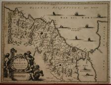 MOROCCO 1686 OLFERT DAPPER UNUSUAL ANTIQUE ORIGINAL COPPER ENGRAVED MAP