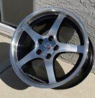 C5 Deep Dish Style Machined Faceblack Vent Corvette Wheels 17x9.518x10.5