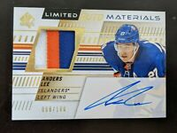 Anders Lee 2019-20 SP Authentic Limited Materials Game Worn Jsy Patch Auto /100