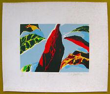Nelson Sambolin Gallegos I Plants COA Serigraph Print Art Puerto Rico Signed