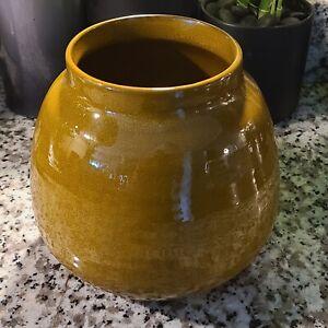 Crate and Barrel Glazed Ceramic Vase