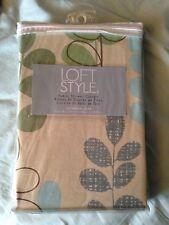 NEW Loft Style Fabric Botanical Leaf Shower Curtain 72 x 72