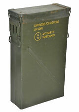 US Army Olive Large Metal Ammo Box Used Military Surplus Size 6A