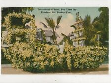 Tournament Of Roses New Years Day Pasadena Bankers Float USA 1914 Postcard 898a