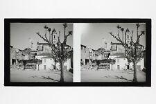 La Turbie France Photo N15 stereo Plaque de verre Vintage 1927