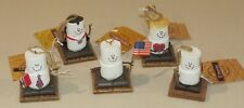 Lot of 5 Midwest of Cannon Falls, S'Mores burn 4 you, pinecone, graduate, Flag