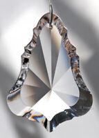 "50mm Asfour Fancy Bell Crystal Clear Prism SunCatcher Feng Shui 2"" Slvr pt bale"