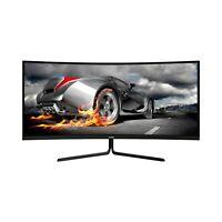 VIOTEK GNV34CB 34-Inch Ultrawide Gaming Monitor Curved 1080P 100Hz 21:9 FreeSync
