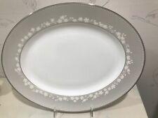 "NEW Lenox BELLINA PLATINUM 13"" Oval Serving Platter - BRAND NEW - RETIRED"