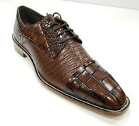 Men's Stacy Adams Talarico Cognac Leather Cap Toe Oxford Dress Shoes