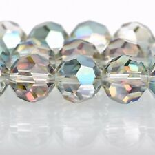 12mm NORTHERN LIGHTS Round Faceted Crystal Glass Beads rainbow 28 beads, bgl1619