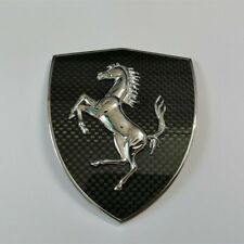 Ferrari Carbon Fiber Fender Shield  badge Emblem Kit New
