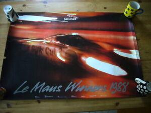 Jaguar XJR-9 Le Mans 1988 factory-issued poster, rare & original, excellent