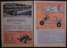 Racing Go Kart Wayne Ison Go-Cart 1962 How-To build Plans