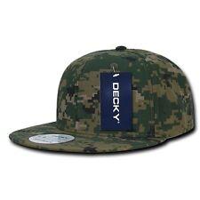 Woodland Forest Digital Camouflage Flat Bill Snapback MCU Camo Baseball Cap Hat