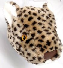 Mint Leopard Dianne Shapiro Plush Sculpture Stuffed Trophy Head Decor Big Cat