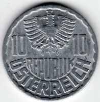 1969 AUSTRIA 10 GROSCHEN  WORLD COIN NICE!