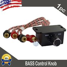 Universal Car Audio Amplifier Bass Boost Rca Level Remote Volume Control Knob Us