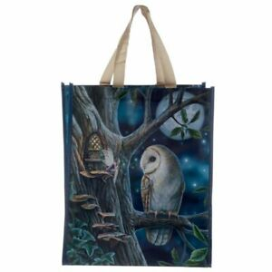 Lisa Parker Fairy Tales Owl And Fairy Shopping Bag - Gothic (D104)
