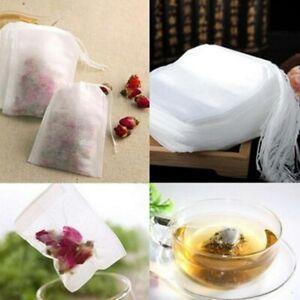 Herb Tea Filter Teabags 100Pcs Tea Bags Strainer Infuser String Heal Seal Paper