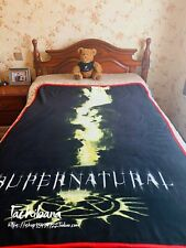 Supernatural Dean Sam Castiel Super Soft Fleece Throw Blanket Flannel