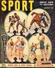 1951 (Mar.) Sport Magazine, Boxing, Basketball, Hockey & Track ~ TV Coverage