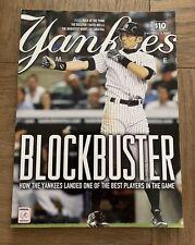 NY YANKEES STADIUM PROGRAM ICHIRO SUZUKI COVER AUGUST 2012 MLB BASEBALL DEAL