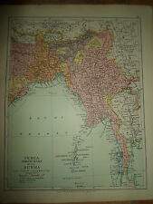 MAP c1920 INDIA NE + BURMA From Stanfords London Atlas of Universal Geography