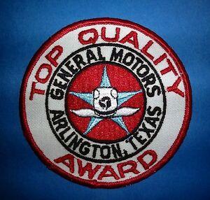 Rare Vintage 1970's General Motors Top Quality Award Jacket Uniform Patch Crest