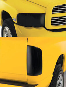 Fits 02-05 Dodge Ram GTS Smoke Acrylic Headlight Taillight Covers Protection 4pc
