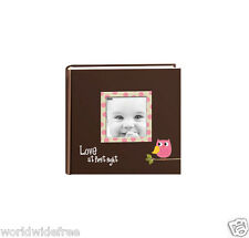 Pioneer EV-246FBO 4x6 Baby Owl Designer Frame Photo Album - Pink Owl