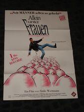 Allein unter Frauen Among Women Alone folded German Movie video promo Poster