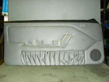 1987-1993 Ford Mustang Black Grey Driver Side Door Panel Manual Windows Nos