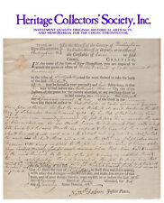 Nathaniel Folsom, Revolutionary War hero, signed document dated 1787
