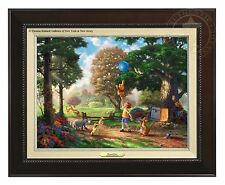 Thomas Kinkade Winnie The Pooh II Canvas Classic (Espresso Frame)