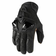 Icon Hypersport GP Motorcycle Motorbike Short Glove Black | All Sizes