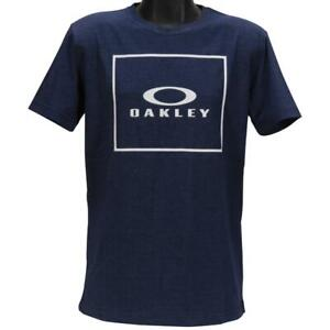 Oakley Jack Tee Mens Size XL Navy Heather Cotton Regular Fit Logo T-Shirt