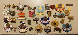Vintage Lot Of 32 LIONS CLUB Pins Badges INTERNATIONAL Thailand, Korea, Mexico
