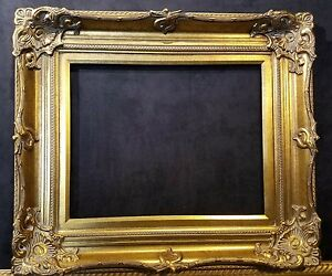 """5"""" Antique Gold Leaf Ornate photo Oil Painting Wood Picture Frame 801G 12x16"""