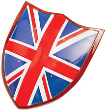Boys Union Jack Flag British Knight Shield Fancy Dress Costume Outfit Accessory