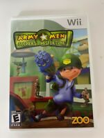Army Men Soldiers Of Misfortune  Wii Game Used With Instruction Booklet A02