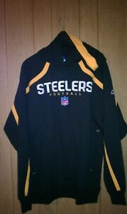 Pittsburgh Steelers Black Hoodie 2XL by Reebok