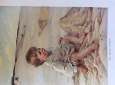 m17a1 ephemera 1920s book plate a little briton boy beach