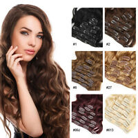 Remy Clip in Human Hair Brazilian Body Wave Virgin Hair Clip in Hair Extensions