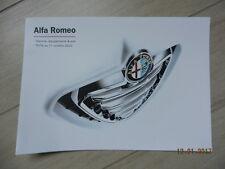 Catalogue Tarif gamme ALFA ROMEO MITO 159 GIULIETTA octobre 2010