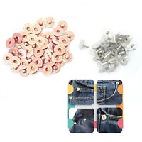 9.5mm Metal Hat Rivet Flat Stud Corner Jeans Button DIY Costumes Blazers Suits